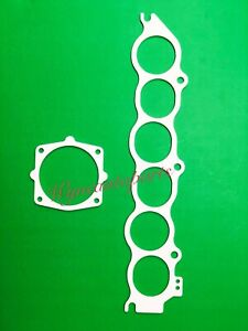Fit 02-08 NISSAN MAXIMA Thermal Intake manifold Lower & Throttle Body Gasket