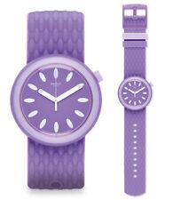Swatch SWIMPOP Watch pnv101 Analogue Silicone Purple