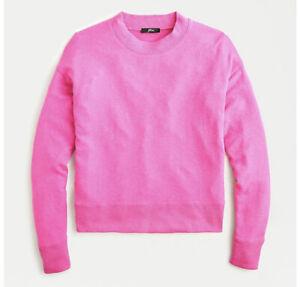J Crew Supercozy Mockneck Pullover Sweater NWT L