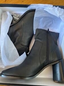BNIB Tony Bianco Sarno-TB Black Leather LUXE Boots Size 8 RRP $259 Sold Out