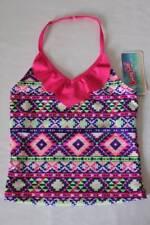 NEW Girls Tankini Top Swimsuit Size XS 4 - 5 Pink Purple Halter Top Bathing Suit