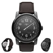 PREMIUM One Hand Luch Mechanical Automatic Wound Wristwatch. Black. 77497578