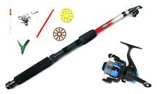 Telescopic 6ft/1.8mtr Drago rod & Star Reel combo with Float fishing accessories