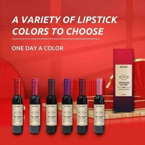 Women Matte Lip Gloss Red Wine Bottle Tint Liquid Makeup Hot Lipstick Z8N3
