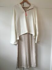 Anthropologie Dress With Sweatshirt Set NWT LARGE
