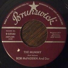 Bob McFadden & Dor, The Mummy / The Beat Generation 45, MOD popcorn BRUNSWICK