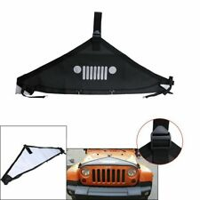 Balck Hood Cover Front End Bra Protector V-Hood Covers For Jeep Wrangler 07-2018