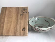 More details for a rare japanese late edo swatow style porcelain red and green bowl
