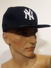 New Era 59Fifty New York NY Yankees Fitted Hat Dark Navy MLB Cap 7 3/8Cool Base