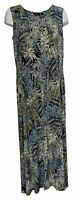 Attitudes By Renee Dress Sz XL Tall Sleeveless Duster W/ Side Slit Green A381995