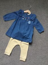 Baby Girl 3-6 Months Denim Embroidered Dress Set Next Brand New With Tags