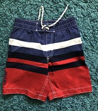 Baby Gap Kids Toddler Boy Swim Trunks Size 4 years - Blue/Red/White/Stripes