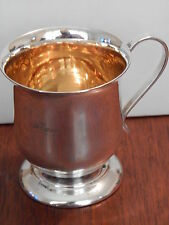 Vintage Circa 1960s Doric Silver Plated Gold Gilded Cup