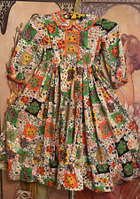 Vintage Child Girl 1970s Floral Patchwork Maxi Dress Fall