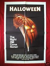 HALLOWEEN * 1978 ORIGINAL MOVIE POSTER 1SH MICHAEL MYERS MASK THE THING FOG NM