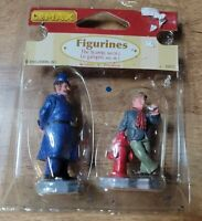 Lemax 2005 The Scamp & Police Figurine 97529 Village Accessories Set of 2