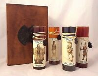 TROY 4 Scented Candle Set w/Box Rare 2004 Movie Promotional Brad Pitt