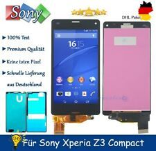 Für Sony Xperia Z3 Compact Mini D5803 LCD Display TouchScreen Bildschirm Schwarz