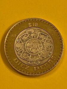 Mexico 10 Pesos 1998 Bimetalic Coin