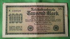 1922 GERMAN 1000 MARK BANKNOTE - REICHSBANKNOTE - K 140020