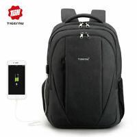 New Tigernu Women Men USB Charge Laptop Business Backpack Anti-theft school bag