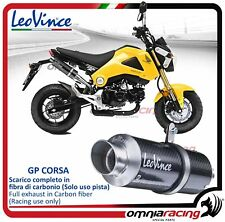 Leovince GP CORSA Terminalecarbonio (Uso pista) Honda MSX / Grom 125 2013>2015