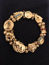 Vintage Victorian Slide Bracelet 14 KT With Gemstones -- REDUCED --