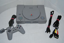 Playstation 1 / Ps1 - Konsole + Original Controller + Alle Kabel + 1 Spiel