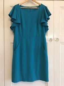 Beautiful Marc New York Turquoise Dress Size 18 Wedding Cocktails