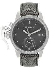 GRAHAM CHRONOFIGHTER 1695 DIAMOND BEZEL FACTORY SET UNISEX WATCH  $17,150