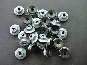 "25pcs 1/8"" emblem script name plate letter thread cutting sealer nuts Ford Edsel"