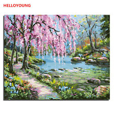 Original Landscape Digital Oil Painting DIY Hand painted Oil Paintings on Canvas