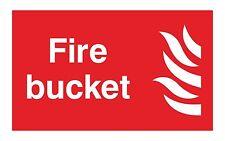 1x FIRE BUCKET Avvertimento Adesivo Decalcomania per porta sicurezza BOX Locker LAVORO NEGOZIO HOME