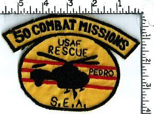 Authentic USAF Thai made Vietnam war era patch  40th ARRS - 50 Combat Mission