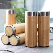 Bamboo Water Bottle / Flask With Strainer PLASTIC-FREE SHIPPING
