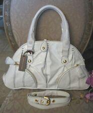 $550 ISABELLA FIORE ZIP IT ADA WHITE Satchel Bag Handbag Purse NWT