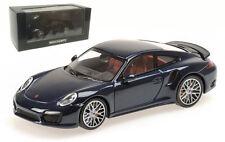Minichamps 410 062220 Porsche 911 Turbo S 2013 - Dark Blue Metallic 1/43 Scale