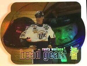 Rusty Wallace Laser Die-cut Head Gear 2000 Press Pass VIP Card HG2