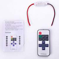Mini 12V RF Dimmer For LED Strip Light Wireless Remote Switch Controller