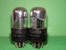 Matched Pair Sylvania  6SN7 GTA Vacuum Tubes Results =