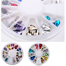 Carrousel 3D Nail Art Bijoux Ongle Déco Glitter Strass Cristal Fimo Gel UV Tips