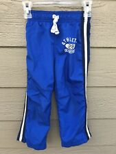 CARTERS Kids Toddler Boys Size 4T Blue Athletic Sport Pants  Fully Lined