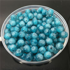New 8mm 30Pcs Double Colors Glass Round Pearl Loose Beads Jewelry Making #8m46