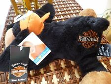 "Harley Davidson ""Biker Buddies"" black/tan dog plush stuffed animal new with tags"