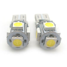 2x Xenon Red 5 SMD LED Side Light W5W T10 501 Fits Audi AMSL1013R