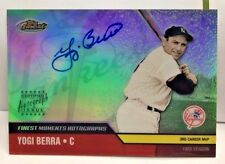 Yogi Berra 2002 Topps Finest Moments Refractor on-card Autograph Auto - YANKEES