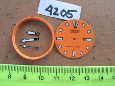 Orange Dial Hands Minute Marker Ring Set New made for Seiko Diver 4205 Auto