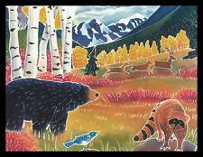 327-Msa Harriet Peck Taylor Bird Bear Deer Raccoon Blank Greeting Note Card New
