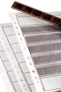 Hama 35mm   25x Negative Strip Sleeves Storage Ring Binder Pages - translucent