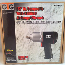 "1/2"" Twin-Hammer Composite Air Impact Wrench Max Torque 820 Ft/Lbs"